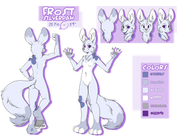 Frost Silver Paw Comish by furryRaver21
