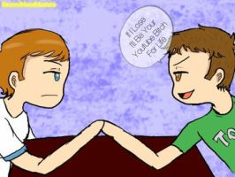 Arm Wrestling, That's How We Met by ikriam