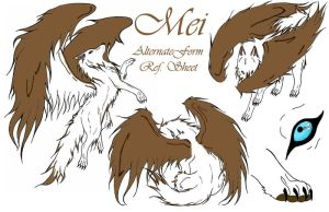 Mei Ref. Sheet Alternate Form by DansuDragon
