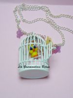 FIMO TWEETY NECKLACE by GourmandisesBijoux