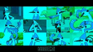 Mordecai Wallpaper by WolfieDrake
