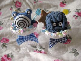 Poliwhirl and Tangrowth PokeParfaits by KeoDear