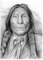 Wolf Robe Cheyenne Indian Chief by gregchapin