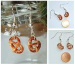 Pretzel Earrings by AlexandraKnickel