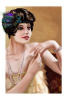 Portrait of a flapper by Drombyb