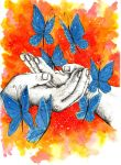 Inky hands10-Butterflies by AncaXBre