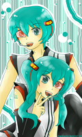 Miku and Mikuo by KagamineSou