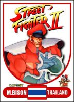 M. Bison - Street Fighter 2 Retro Card by MrABBrown