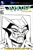 Justice League - Owlman Sketchcover commission by ElfSong-Mat