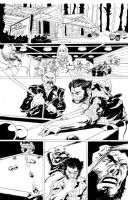 Wolverine Bar Fight Page 1 Inked by dtor91