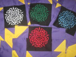 5 elements quilt WIP part 5 by WillowForrestall