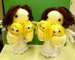 Twin Amigurumi Angels by NerdStitch