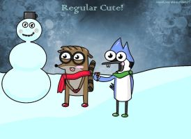 Mordecai and Rigby as kids!(winter) by JessieLover