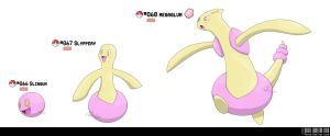 066, 067, 068 - Gum Fakemon by LeafyHeart