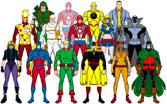 Original Comics versions of the Legends and JSA by Eldacur