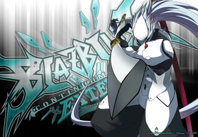Hakumen Wallpaper [Blazblue] by SebasTengentopero