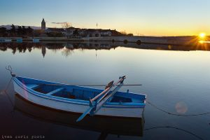 Sunrise in city of Nin by ivancoric