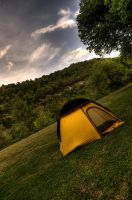 Little Yellow Tent HDR by Staticpictures
