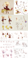 Hazel and Dahlia concept dump by chicinlicin