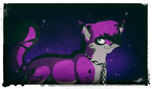 The Cat With The Galaxy In His Eyes by Flame-Expression