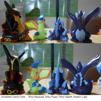 Completed Order (4) Pokemon Repaints by PleinairBunny