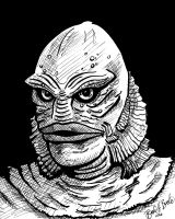 Creature from the Black Lagoon by brodiehbrockie