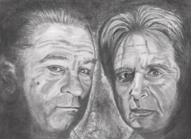Robert Deniro and Al Pachino by candysamuels