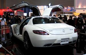 White Mercedes-Benz SLS AMG to LPAGAN by toyonda