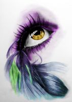 Drawing of Eye Feather_Edited by TrinityStar436