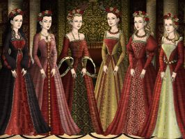 Christmas Tudor Queens by LadyBolena