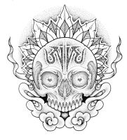 Aum skull by JonToogood