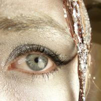 Silver Glitter Eye Stock V by Melyssah6-Stock