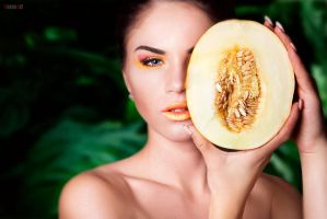 Melons . beauty portrait2 by VeroNArt