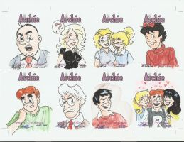Archie Cards Set 5 by AmberStoneArt