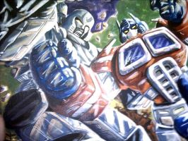 Optimus Prime vs Megatron by transformersph