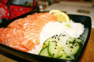 Salmon Sashimi by tetimi