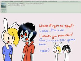 Ask Marshall Lee and Fionna the human: Question 6. by Drawing-Heart