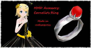 MMD Accessory: Cornello's Ring by LearnMMD