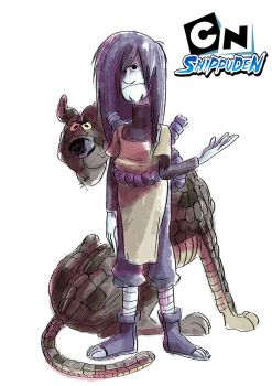 shaggy and scooby as orochimaru by nounouille