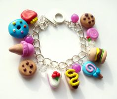 Fast food bracelet by LittleMissDelicious
