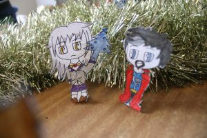 Christmas Piece: Angel and Dr Strange by thegoldfox21