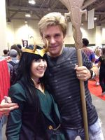 Me and Vic Mignogna by gossamer-and-giggles