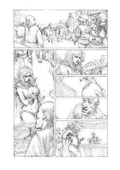 Red Sonja 02 Pencil by MikaelNoon92