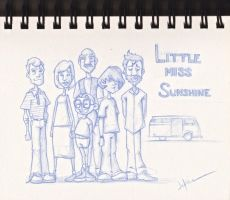Little Miss Sunshine Drawing by jericilag