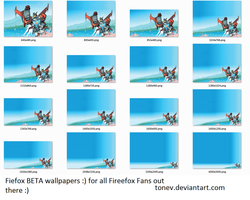Firefox Beta wallpaper by tonev