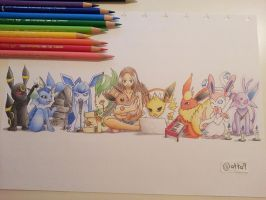 Eeveelution Rainbow by atta9