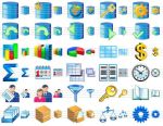 Database Software Icons by Ikonod