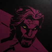 Wolf Among Us Stencil Painting by VivaDaVila