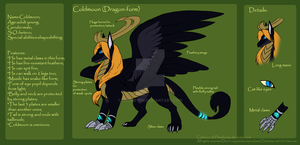 Coldmoon_dragon form_RefSheet by Husky-Foxgryph