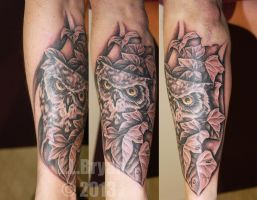 Another Owl Tattoo by danktat
